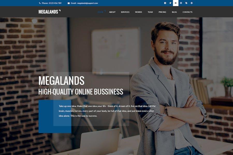 MegaLands - Multipurpose Landing Pages Drupal 8