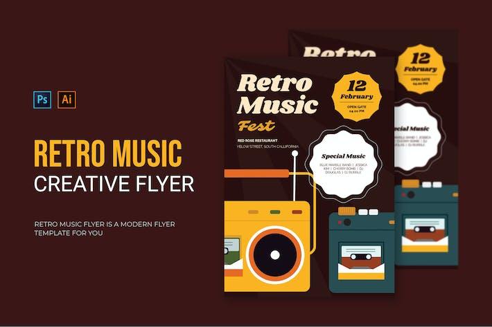 Retro Musik - Flyer