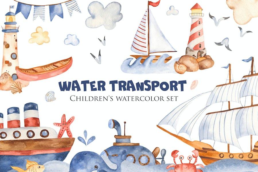 Watercolor Water Transport