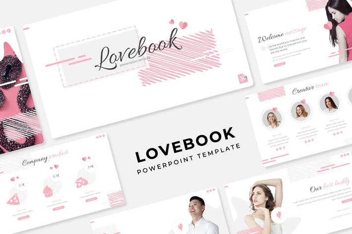Thumbnail for Lovebook - PowerPoint Template