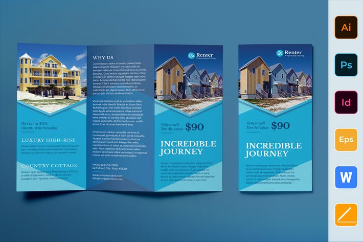 Thumbnail for Vacation Rental Brochure Trifold