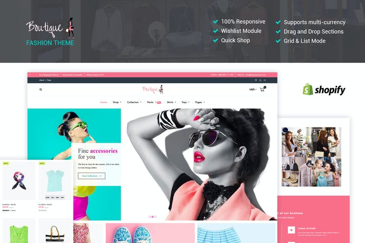 Thumbnail for Fashion Boutique - Responsive Shopify Theme