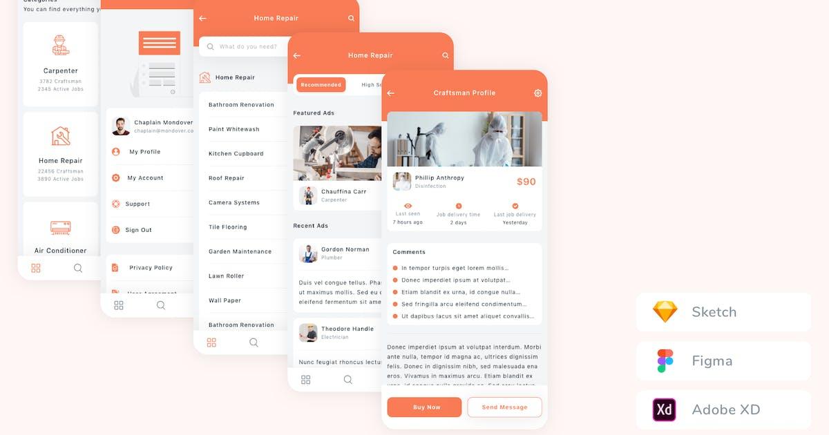 Download Find A Craftsman App UI Kit by betush