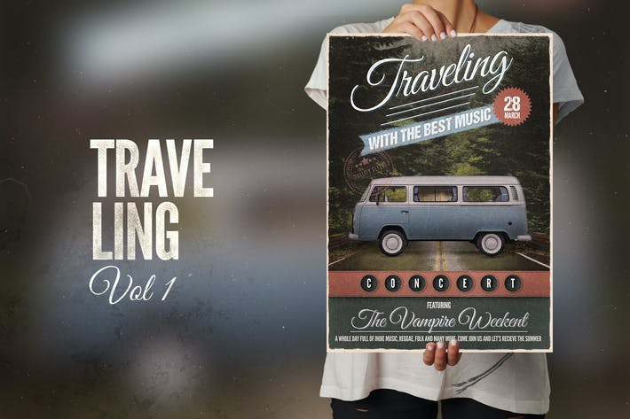 Thumbnail for Traveling with the Music Flyer Poster
