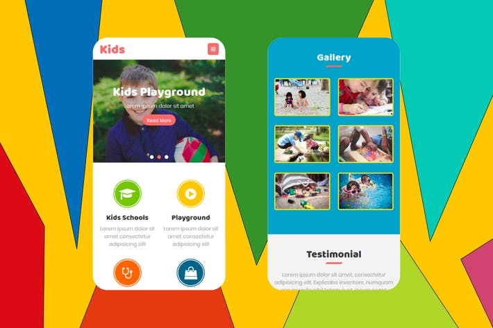Thumbnail for Kids - Multipurpose Mobile Template