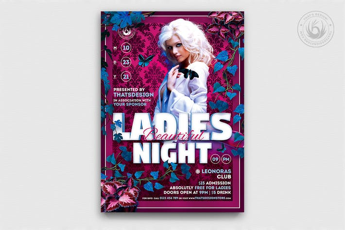 Thumbnail for Beautiful Ladies Night Flyer Template