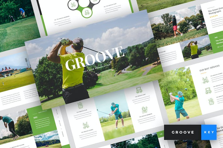 Thumbnail for Groove - Golf Club Keynote Template