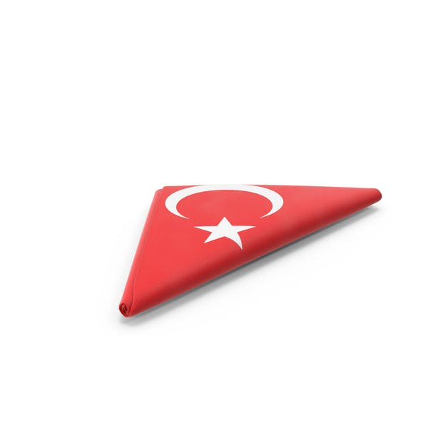 Folded Turkish Flag