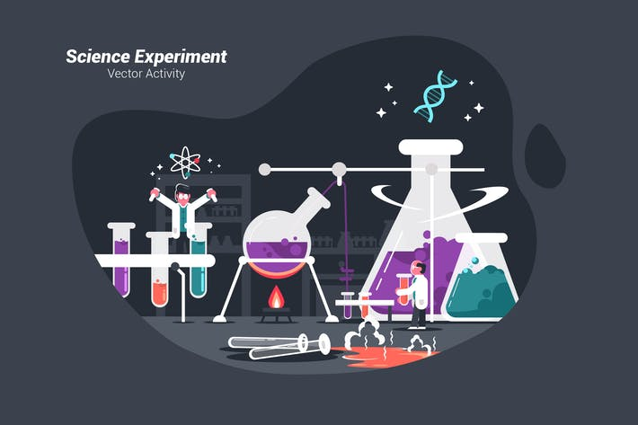 Thumbnail for Science Experiment - Vector Illustration