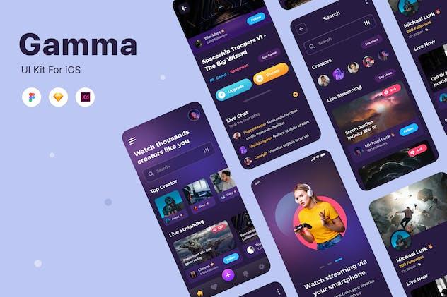 Gamma - Game UI App Concept