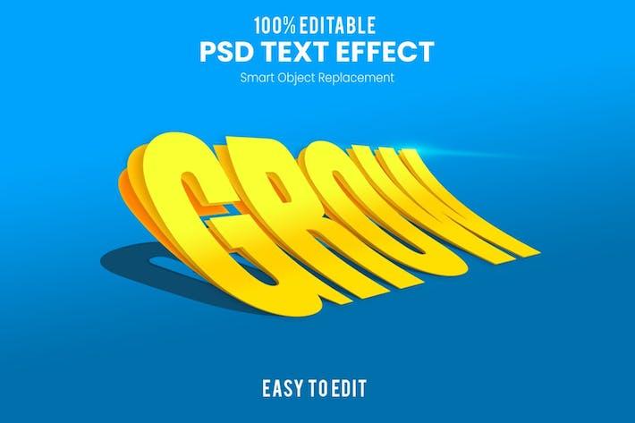 Grow Layer Text Effect PSD