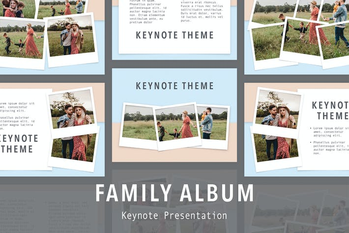 Thumbnail for Family Album Keynote Template