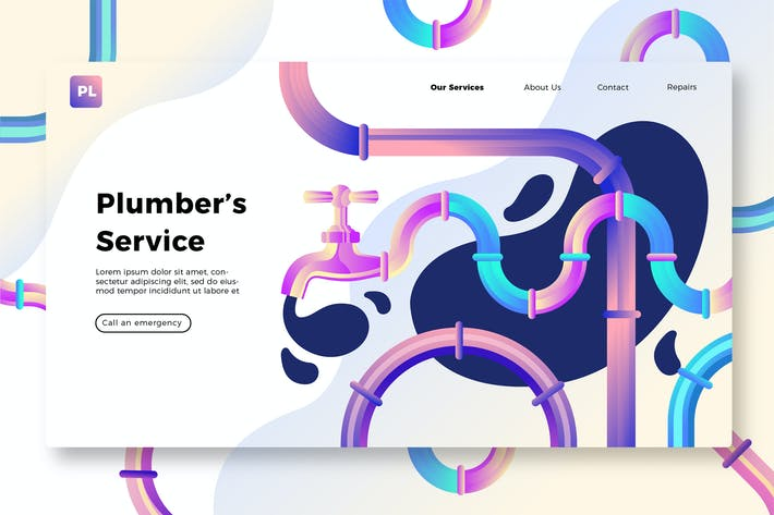Thumbnail for Plumber Services - Banner & Landing Page