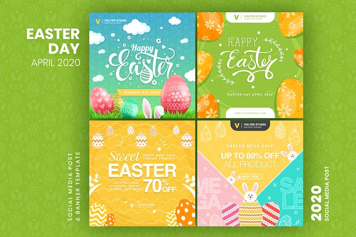 Thumbnail for Easter Day Social Media Post Template