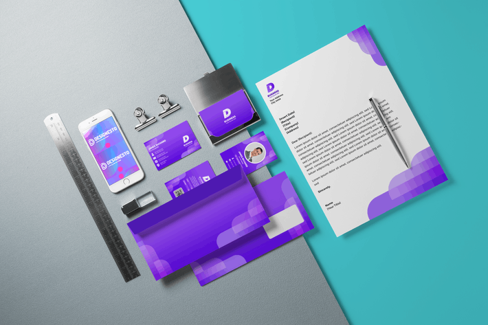 Thumbnail for Purple Light - Brand Identity Template
