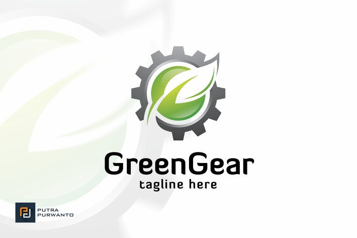 Thumbnail for Green Gear - Logo Template