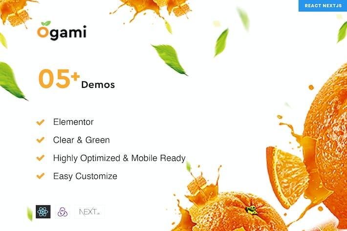 Ogami - React NextJs Organic eCommerce Templates