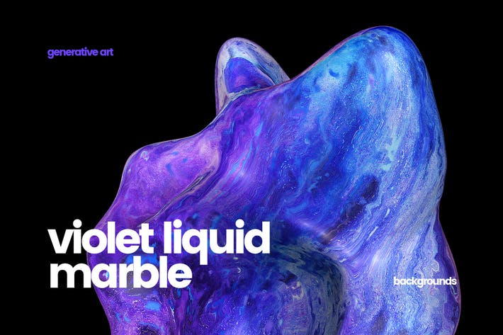 Thumbnail for Violet Liquid Marble Backgrounds