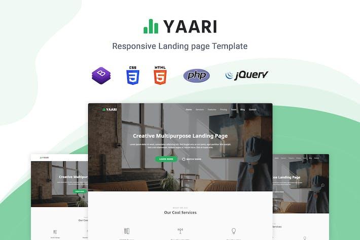 Thumbnail for Yaari - Responsive Landing page Template