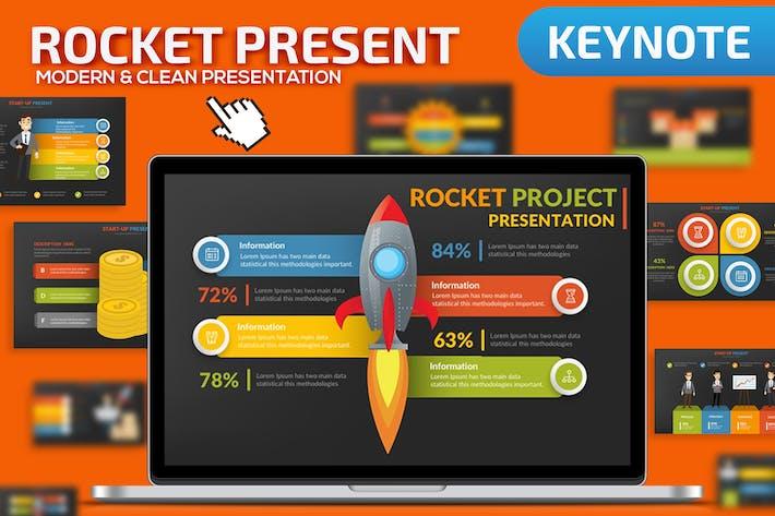 Шаблон презентации Keynote ракеты