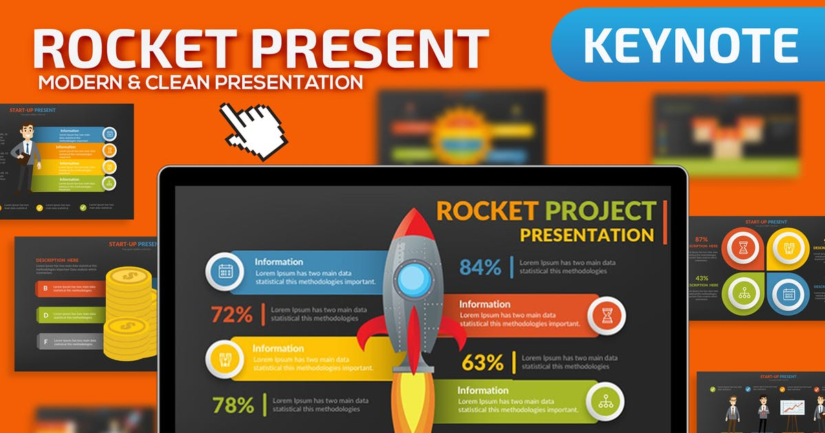 Download Rocket Keynote Presentation Template by mamanamsai