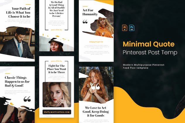 Minimal Quotes | Pinterest Post Template