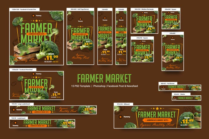 Thumbnail for Farmer Market Banners Ad
