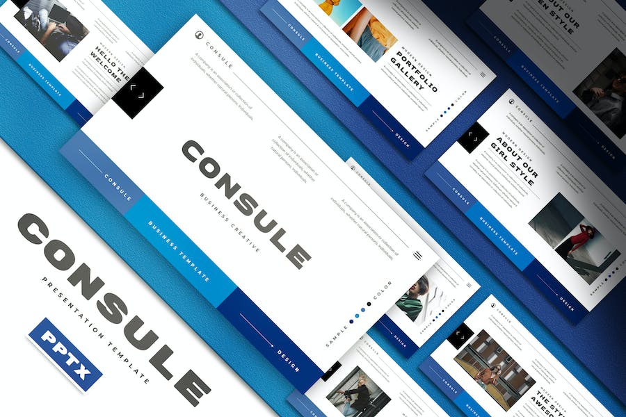 Consule Business Presentation PowerPoint Template