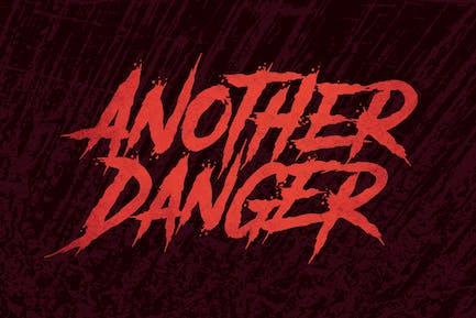 Another Danger   Horror Font