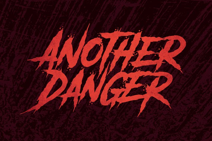 Thumbnail for Another Danger | Horror Font