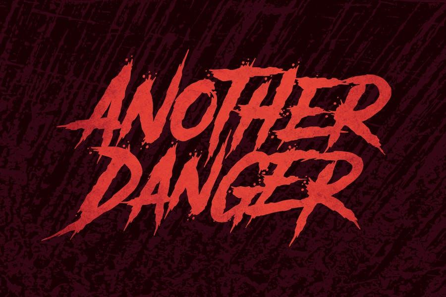 Another Danger | Horror Font