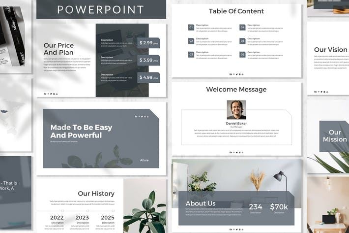 Thumbnail for Allure - Business Powerpoint Template