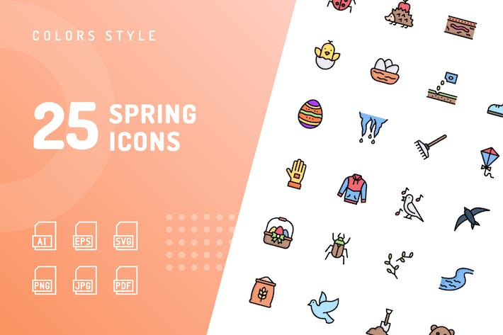 Spring Color Icons