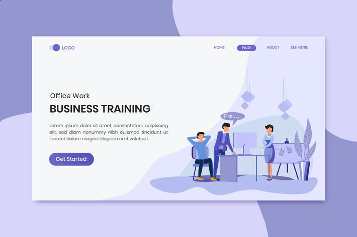 Thumbnail for Business Training Marketing Landing Page