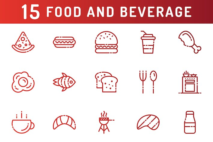 Thumbnail for Food and Beverage Icons