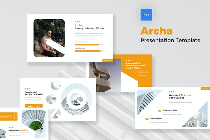 Thumbnail for Architecture Agency Keynote Template