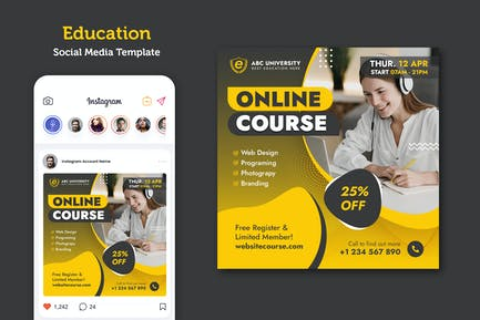 Online Course Banner Template