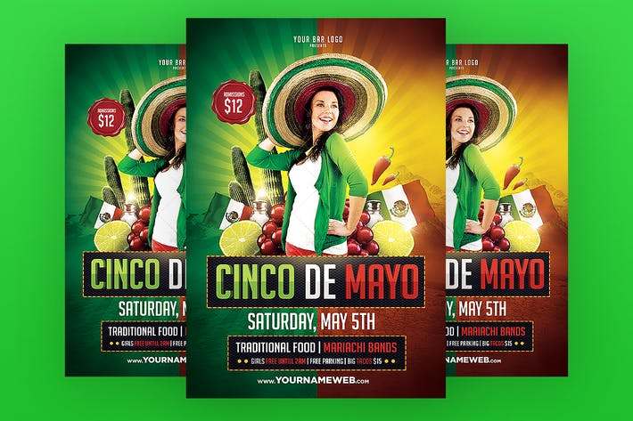 Thumbnail for Cinco de Mayo Flyer Template