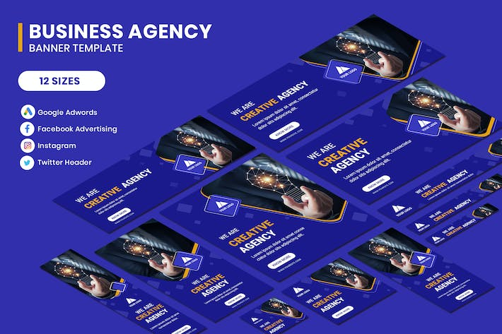 Thumbnail for Business Agency Google Adwords Banner Template