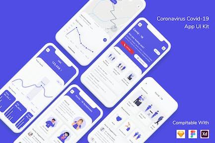 Coronavirus Covid-19 App UI Kit