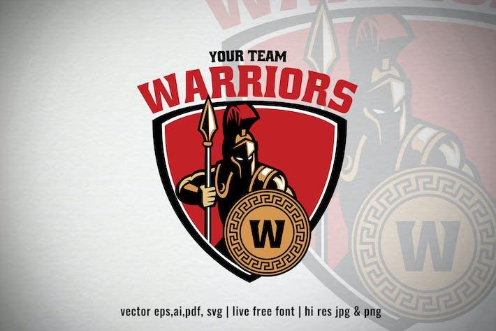Thumbnail for warrior of spartan for sport/esport logo