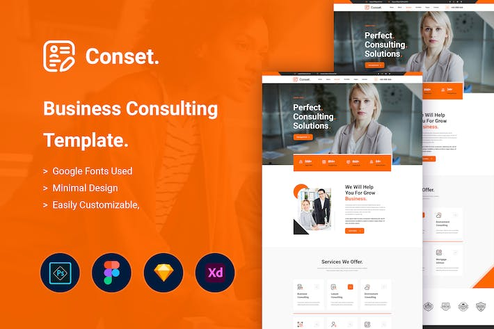 Thumbnail for Conset - Business Consulting Template