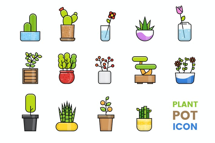 Thumbnail for Plant Pot Icon