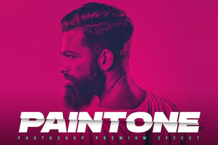 Paintone Photoshop Action - Duotone & Painting