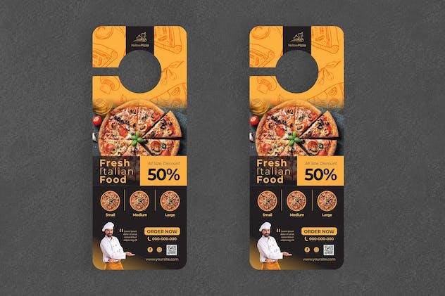 Pizza Door Hanger Creative Promotion