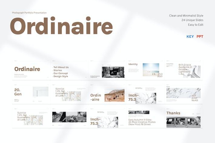 Ordinaire - Photograph Portfolio Presentation