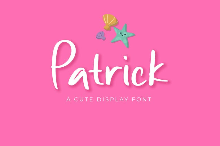 Thumbnail for Patrick Cute Display Font