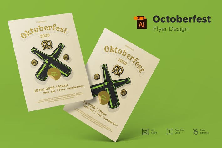 Thumbnail for October Festival Flyer Design Template