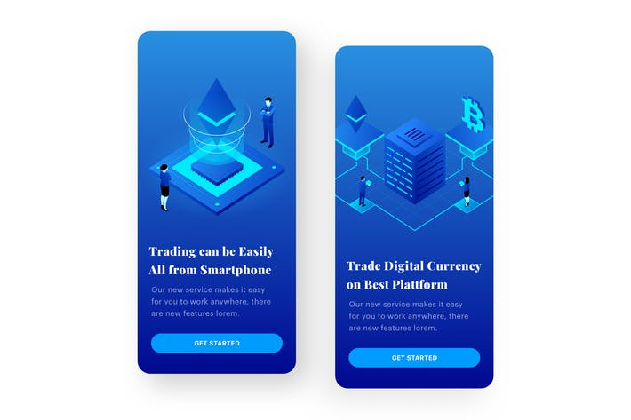 Thumbnail for Cryptocurrency Application Mobile Onboarding