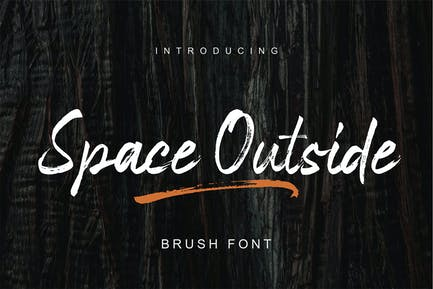 Space Outside | Casual Brush Font